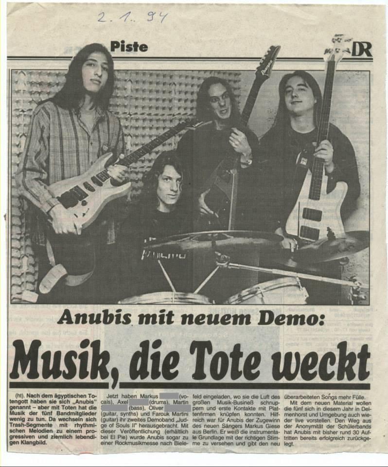 ...unsere erste Band - Anubis :)